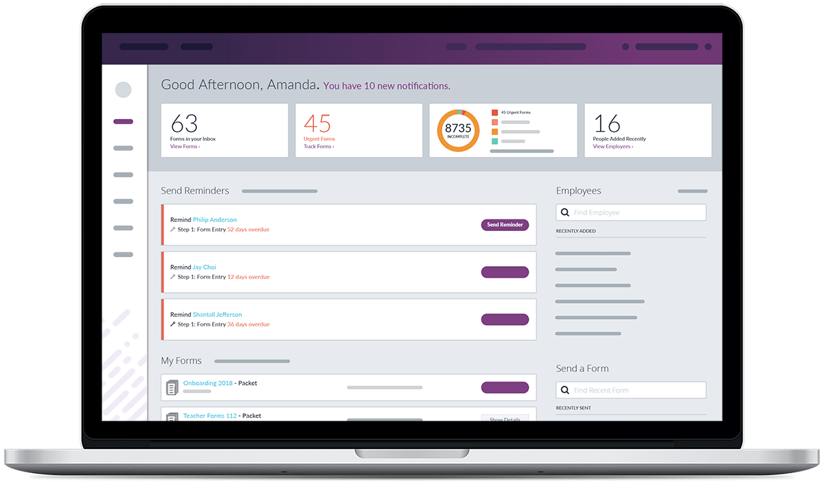 Easily store, manage and access employee records online with Frontline Central
