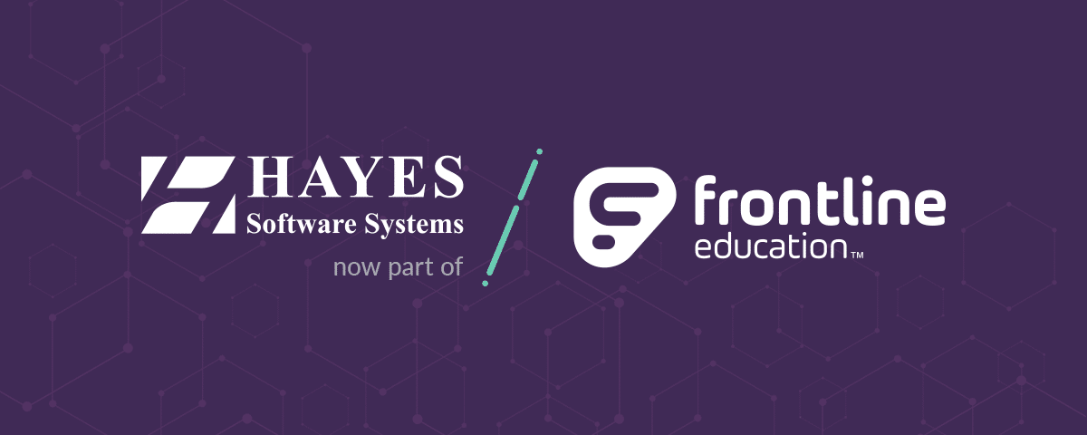 View more info about Frontline Education Has Acquired Hayes Software Systems.